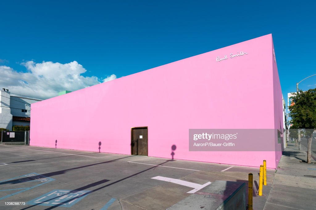 A General View Of The Paul Smith Pink Wall Clothing Store On News Photo Getty Images