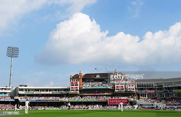 A general view of the pavilion during day five of the 5th Investec Ashes Test match between England and Australia at the Kia Oval on August 25 2013...