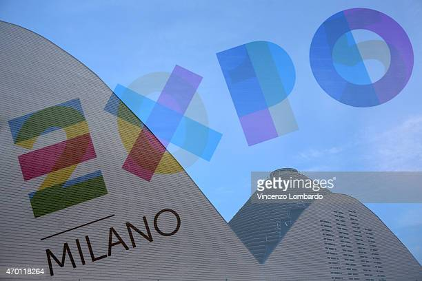A general view of the pavilions of Milan Expo 2015 Last Preparation Works Expo 2015 on April 17 2015 in Milan Italy