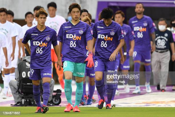 General view of the Peace Match as players wear jersey of prior to the J.League Meiji Yasuda J1 match between Sanfrecce Hiroshima and Shonan Bellmare...