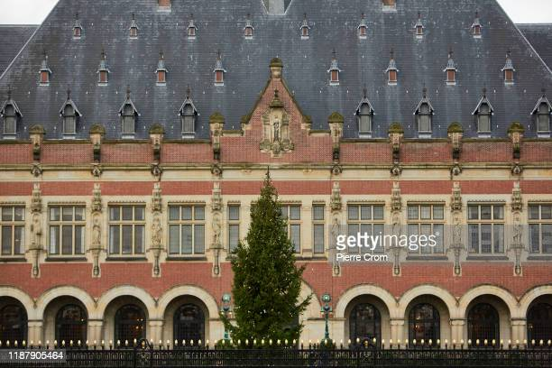 General view of the Peace Palace is seen as Myanmar State Counsellor Aung San Suu Kyi leads its delegation to the International Court of Justice to...