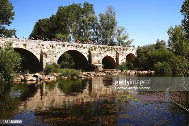 General view of the peloton during the 76th Tour of Spain 2021, Stage 2 a 166,7km stage from Caleruega - Monasterio de Santo Domingo de Guzmán to...