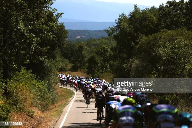 General view of the peloton during the 76th Tour of Spain 2021, Stage 3 a 202,8km stage from Santo Domingo de Silos to Espinosa de los Monteros -...