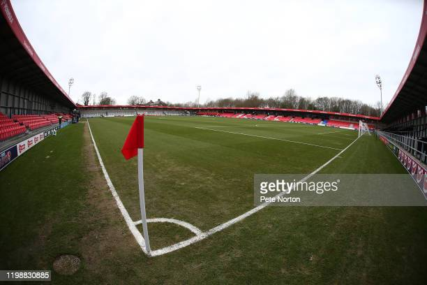 General view of the Peninsula Stadium prior to the Sky Bet League Two match between Salford City and Northampton Town at The Peninsula Stadium on...