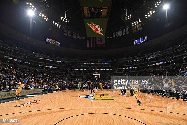 A general view of the Pepsi Center before the Phoenix Suns game against the Denver Nuggets on November 16 2016 in Denver Colorado NOTE TO USER User...
