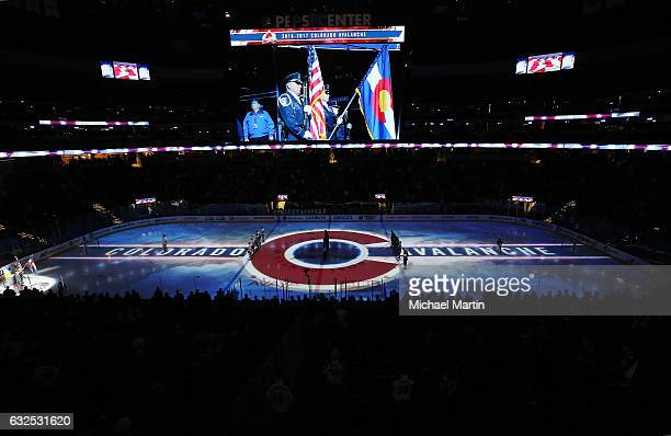 A general view of the Pepsi Center prior to the game between the Colorado Avalanche and the San Jose Sharks on January 23 2017 in Denver Colorado