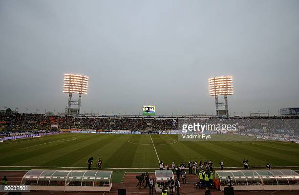 General view of the Petrovsky stadium is seen prior to the UEFA Cup quarter final second leg match between Zenit St. Petersburg and Bayer Leverkusen...
