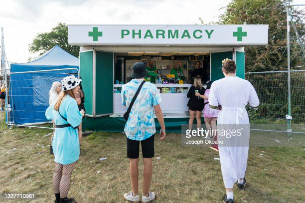 General view of the pharmacy during Reading Festival 2021 at Richfield Avenue on August 29, 2021 in Reading, England.