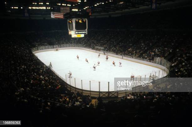 General view of the Philadelphia Flyers and the New York Islanders game on March 25, 1980 at the Nassau Coliseum in Uniondale, New York.