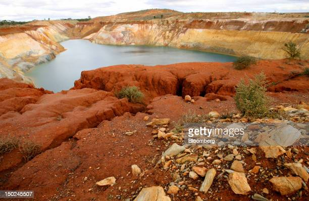 A general view of the Phoenix Gold Ltd Broads Dam open pit mine site west of Kalgoorlie Australia on Tuesday Aug 7 2012 The state of Western...