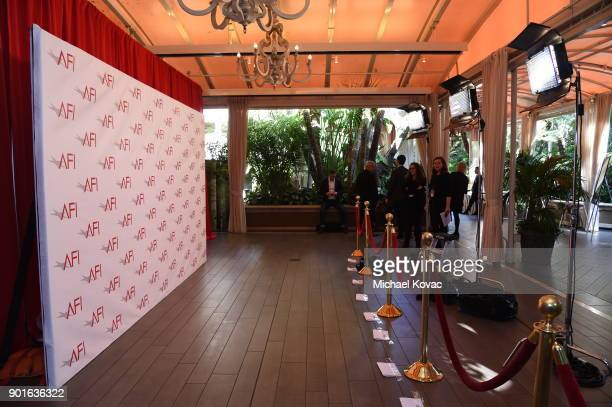 A general view of the photo call area during the 18th Annual AFI Awards at Four Seasons Hotel Los Angeles at Beverly Hills on January 5 2018 in Los...