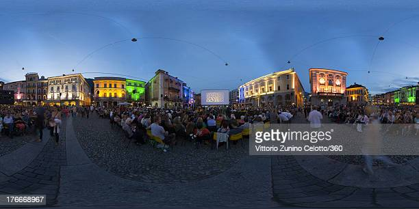 A general view of the Piazza Grande during the 66th Locarno Film Festival on August 16 2013 in Locarno Switzerland