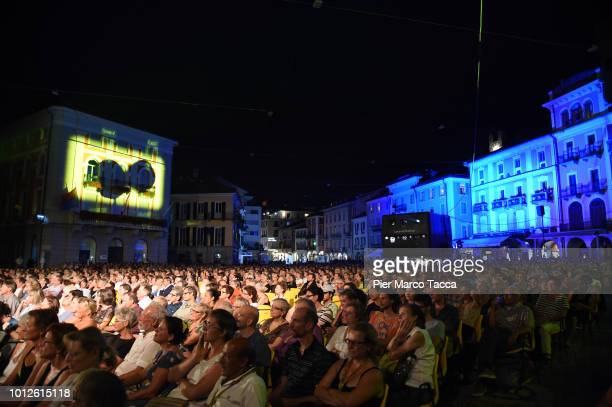 A general view of the Piazza Grande during the 71st Locarno Film Festival on August 6 2018 in Locarno Switzerland