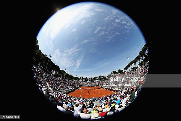 A general view of the Pietrangeli court during day two of The Internazionali BNL d'Italia 2016 on May 09 2016 in Rome Italy