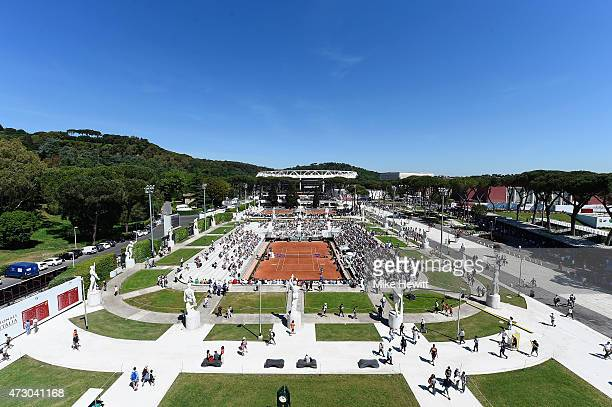 General view of the Pietrangeli court on Day Three of the The Internazionali BNL d'Italia 2015 at the Foro Italico on May 12 2015 in Rome Italy