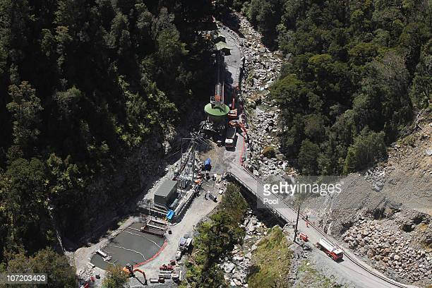 A general view of the Pike River Mine on November 30 2010 in Greymouth New Zealand Rescue teams have been working around the clock to recover the...