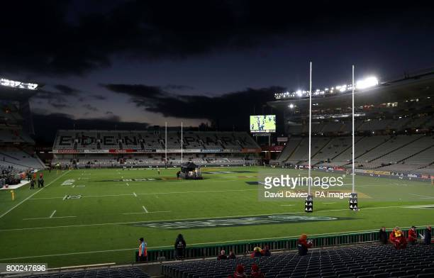 A general view of the pitch and stands before the first test of the 2017 British and Irish Lions tour at Eden Park Auckland