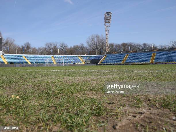 A general view of the pitch at Olimp2 ahead of a Manchester United first team training session at Olimp2 on March 8 2017 in RostovonDon Russia