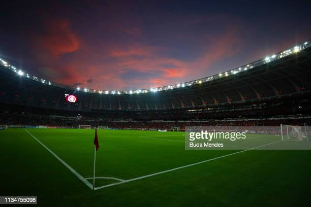 General view of the pitch before a match between Internacional and River Plate as part of Copa CONMEBOL Libertadores 2019 at Beira Rio Stadium on...