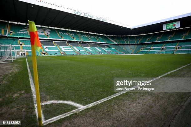 A general view of the pitch before the Ladbrokes Scottish Premiership match at Celtic Park Glasgow
