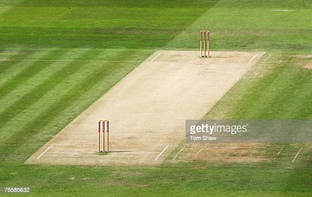 A general view of the pitch during day three of the First Test match between England and India at Lord's on July 21 2007 in London England