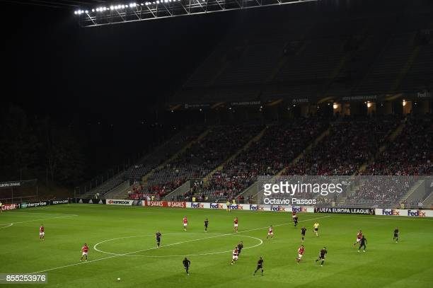 General view of the pitch during the UEFA Europa League group C match between Sporting Braga and Istanbul Basaksehir FK at Municipal de Braga stadium...
