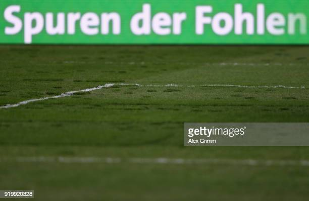 A general view of the pitch prior to the Bundesliga match between Borussia Moenchengladbach and Borussia Dortmund at BorussiaPark on February 18 2018...