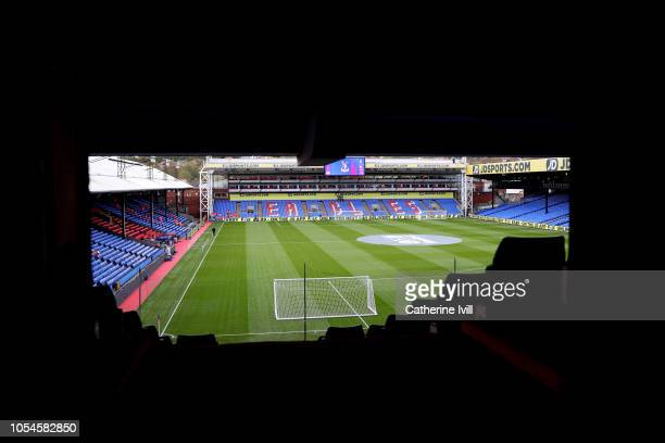 A general view of the pitch prior to the Premier League match between Crystal Palace and Arsenal FC at Selhurst Park on October 28 2018 in London...