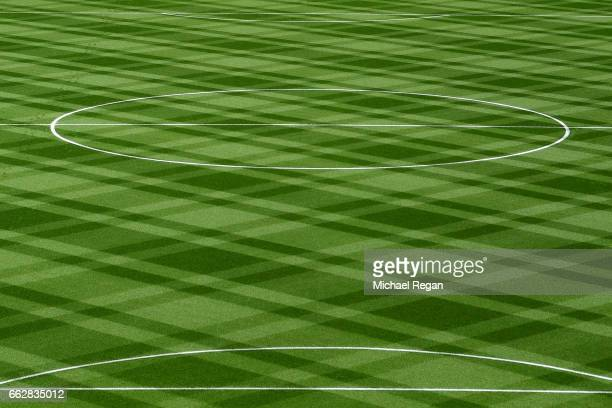 General view of the pitch prior to the Premier League match between Leicester City and Stoke City at The King Power Stadium on April 1 2017 in...