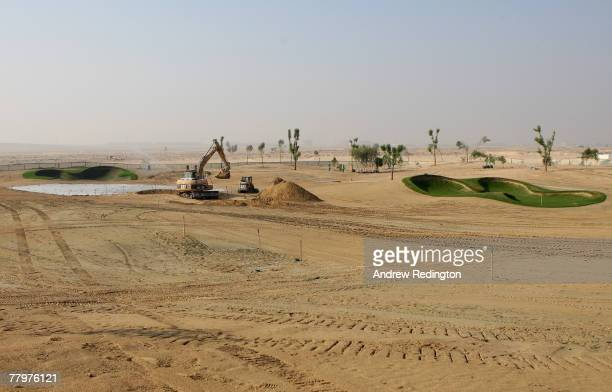 General view of the planned 11th hole on the Greg Norman designed Earth course, prior to a European Tour press conference to announce a multi million...