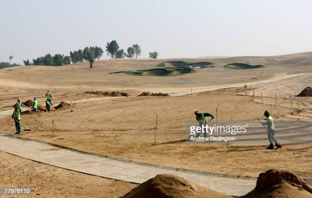 General view of the planned 14th hole on the Greg Norman designed Earth course, prior to a European Tour press conference to announce a multi million...