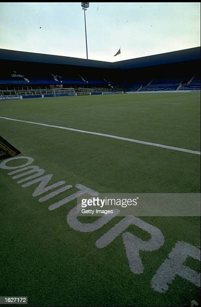 General view of the plastic Omniturf pitch at Queen Park Rangers Football Club at Loftus Road in London Mandatory Credit Allsport UK /Allsport