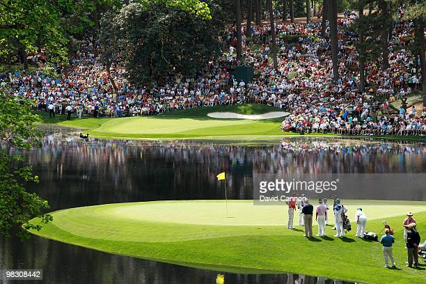 A general view of the play during the Par 3 Contest prior to the 2010 Masters Tournament at Augusta National Golf Club on April 7 2010 in Augusta...
