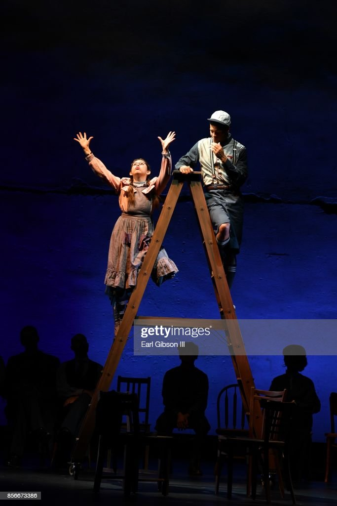 A general view of the play 'Our Town' from the Pasadena Playhouse And Deaf West Theatre's 'Our Town' Opening Night at Pasadena Playhouse on October 1, 2017 in Pasadena, California.