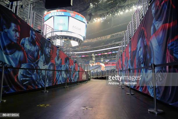 A general view of the player's entrance tunnel before the game between the LA Clippers and the Phoenix Suns on OCTOBER 21 2017 at STAPLES Center in...