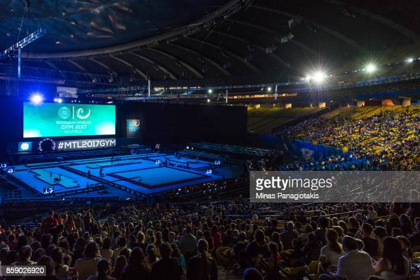 General view of the playing field prior to the individual apparatus finals of the Artistic Gymnastics World Championships on October 8 2017 at...