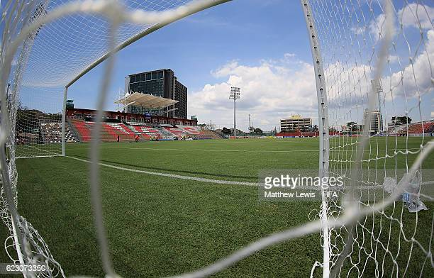 A general view of the PNG Football Stadium ahead of the FIFA U20 Women's World Cup Papua New Guinea 2016 Group C match between France and USA at PNG...