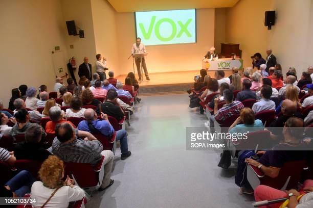 General view of the political meeting of the extreme right Vox party at the city of Sant VIcents del Horts The ultraright Spanish political party Vox...