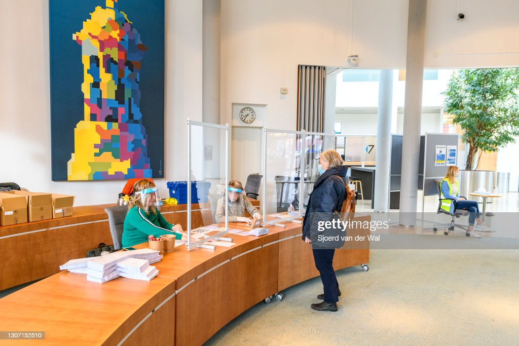 Dutch Head To Polls In Elections Dominated By Covid-19 : News Photo