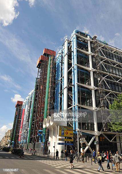 General view of the Pompidou Centre modern art museum taken on June 7 2009 in Paris during a private visit of US President Barack Obama and his...
