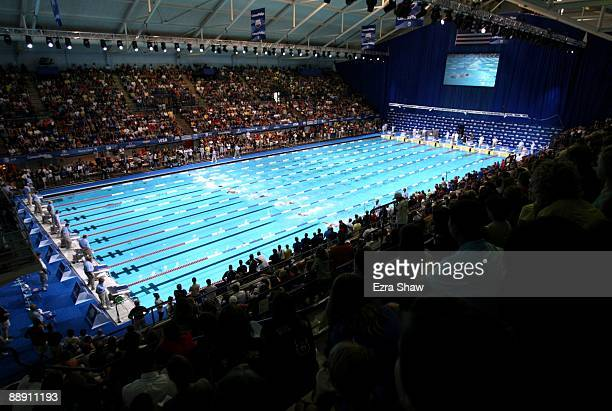 A general view of the pool at the Indiana University Natatorium on Day Two of the 2009 ConocoPhillips Nationals Championships World Championship...