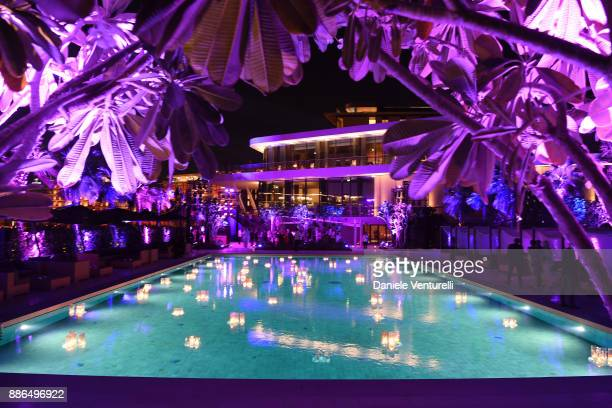 General view of the pool is seen during the Grand Opening of Bulgari Dubai Resort on December 5, 2017 in Dubai, United Arab Emirates.