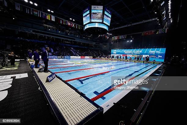 General view of the pool on day five of the 13th FINA World Swimming Championships at the WFCU Centre on December 10 2016 in Windsor Ontario Canada