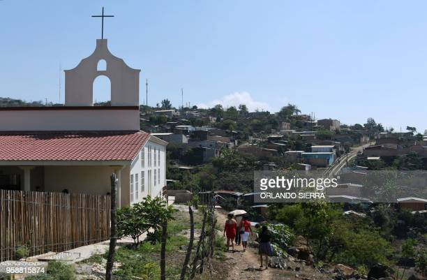 General view of the poor neighbourhood of Nueva Capital on the outskirts of Tegucigalpa taken on May 13 2018 when missionaries from the United States...