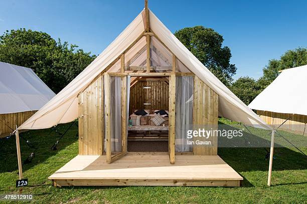 General view of the Pop Up Hotel on Day 1 of the Glastonbury Festival at Worthy Farm Pilton on June 25 2015 in Glastonbury England Now its 45th year...