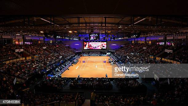 General view of the Porsche-Arena on day four of the Porsche Tennis Grand Prix at Porsche-Arena on April 23, 2015 in Stuttgart, Germany.
