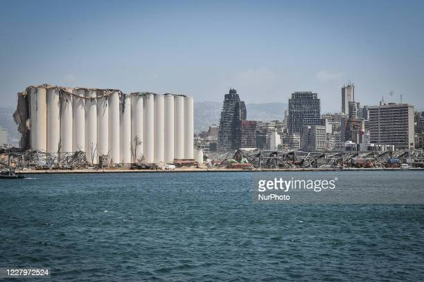 General view of the Port after the massive explosion at the Port of Beirut of August 4, in Beirut, Lebanon on August 08, 2020.