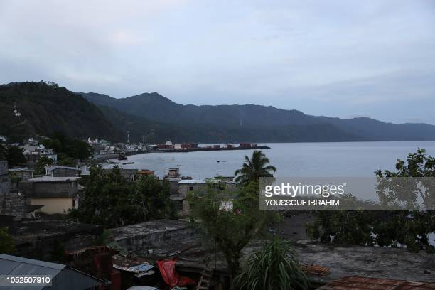 A general view of the port and medina of Comoros Island Anjouan main city Mutsamudu is seen on October 19 2018 in Anjouan Comoros Comoros security...