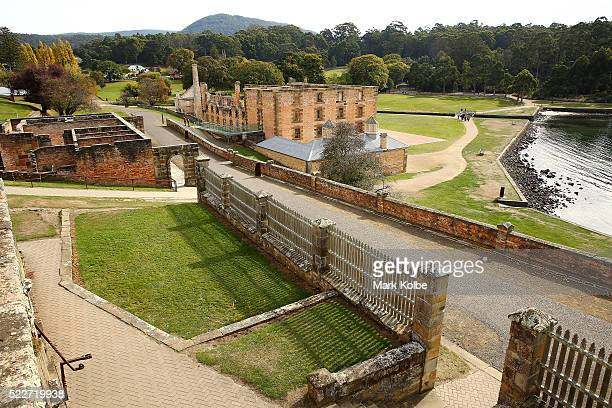 A general view of the Port Arthur Historical Site is seen from the guard tower in the Military District on April 18 2016 in Port Arthur Australia The...