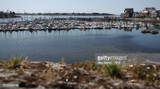 General view of the port during the FIFA U-20 Women's World Cup France 2018 on August 3, 2018 in Concarneau, France.